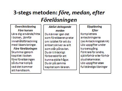 3-stegs metoden