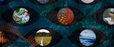 Temabild för Miljötrender om klimatförändringar. Fotokollage: Jenny Svennås-Gillner.