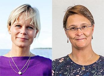 Lena Bergström (t.v.), foto: Jenny Svennås-Gillner, SLU. Malin Werner (t.h.), foto: Staffan Claesson