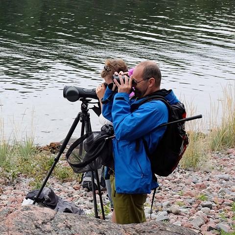 Rapportera fynd av arter. Foto: Mattias Wallén