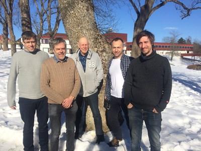 Stekelkommitténs ledamöter 2016-2020, från vänster:  Magnus Stenmark, Anders Hagman, Björn Cederberg, Artur Larsson och Niklas Johansson. Foto: Håkan Ljungberg