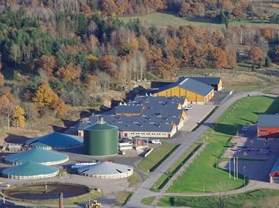 Biogasanläggning vid Lövsta lantbruksforskning, foto.